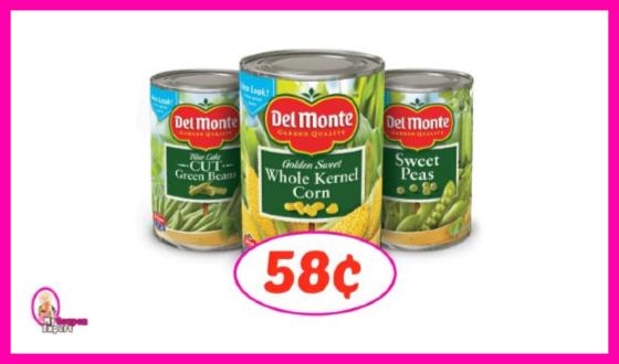 Del Monte Canned Veggie Deal at Publix!