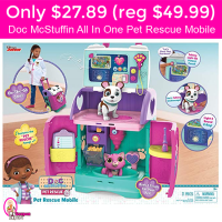 TODAY ONLY!  Doc McStuffins Pet Rescue Mobile $27.89 (reg $49)!
