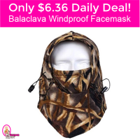 Only $6.36 Shipped Windproof Facemask! Hurry Lightning Deal!