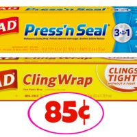 Glad Cling or Press N Seal Wrap just 85¢ each at Publix!