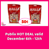 Halls Cough Drops 50¢ at Publix!