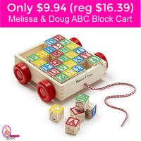 Melissa & Doug ABC Block Cart only $9.94!