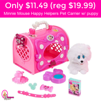 Only $11.49 (reg $19.99) Minnie Mouse Happy Helpers Pet Carrier w/puppy!