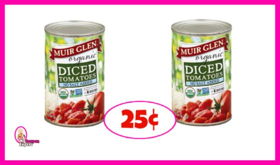Muir Glen Organic Tomatoes 25¢ each at Publix!