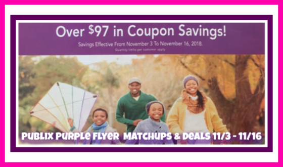 Publix Purple Flyer Deals November 3rd – 14th!
