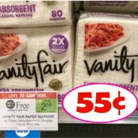 Vanity Fair Napkins 55¢ each at Publix!