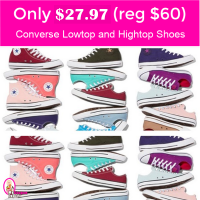 Converse Chuck Taylor Hightops or Lowtops $27.97 (reg $60)!  RUN!