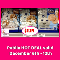 Pillsbury Ready to Bake Cookies $1.14 at Publix!