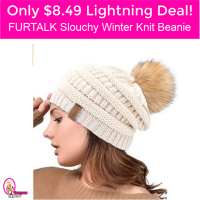 Only $8.49 Furtalk Slouchy Winter Knit Beanie!  Lightning Deal hurry!