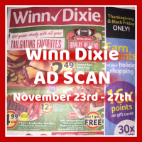 Winn Dixie Ad Scan November 23rd – 27th SHORT AD!