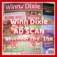 Winn Dixie Ad Scan November 23rd – 27th SHORT AD!