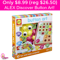 Only $8.99 (reg $26.50) ALEX Discover Button Art!!