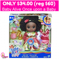 Only $34 (reg $60) Baby Alive Once Upon a Baby Forest Tales!