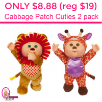 Only $8.88 (reg $19.99) Cabbage Patch Cuties 2 pack!