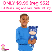 Only $9.99 (reg $32.00) P J Masks Sing And Talk Plush Cat Boy!
