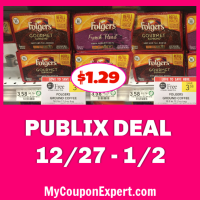 WOW!  Folgers Coffee only $1.29 at Publix right now!!