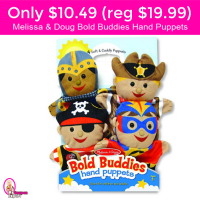 CUTE!  Only $10.49 for Melissa & Doug Hand Puppets!  LIGHTNING DEAL!