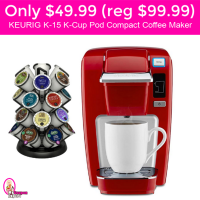 Only $49.99 (reg $99.99) Keurig K15 K Cup Pod Coffee Maker!