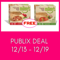 Mikey's Pizza Pockets FREE at Publix! Hurry and print right away!!