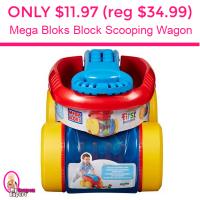 Only $11.97 (reg $34.99) Mega Bloks Block Scooping Wagon!