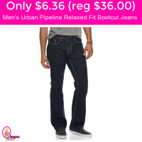 Only $6.36 (reg $36) Men's Urban Pipeline Relaxed Fit Jeans!