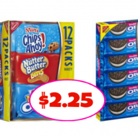 Nabisco Single Serve Trays or Variety Packs $2.25 each at Publix!
