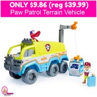 HURRY!  Paw Patrol Terrain Vehicle $9.86 (reg $39.99)!
