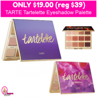 OMG!  TARTE Tartelette Eyeshadow Palette $19 (reg $39)!