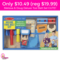 Only $10.49 for Melissa & Doug TOOL BELT!  Lighting Deal HURRY!