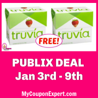 Truvia Sweetener, 40 count box FREE at Publix!