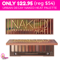 OMG!  Urban Decay Naked Heat Palette $22.95 (reg $54)!