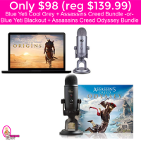 Only $98 (reg $139.99) Blue Yeti + Assassins Creed Bundle Deals!