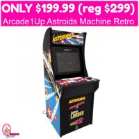 Only $199.99 (reg $299) Arcade1Up Astroids Machine Retro Style!