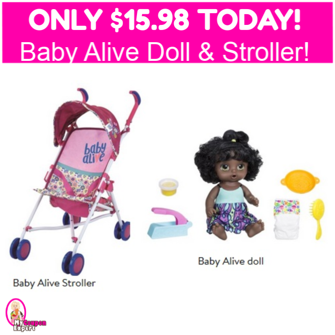 Baby Alive Doll Snackin' Noodles AND Stroller $15.98 TOTAL ...