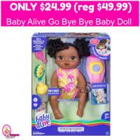 Baby Alive Go Bye-Bye Baby Doll Only $24.99 (reg $49.99)!