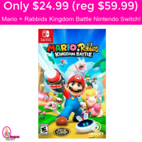 Only $24.99 (reg $59.99) Mario + Rabbids Kingdom Battle for Nintendo Switch!