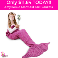 LIGHTNING DEAL!  Only $11.84 AmyHomie Mermaid Tail Blanket!