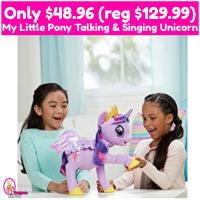 My Little Pony Talking and Singing Unicorn Only $48.96 (reg $129.99)!