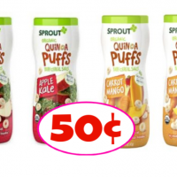 Sprout Organic Puffs 50¢ each at Publix!