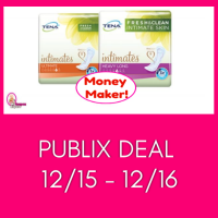 Tena Pads MONEY MAKER at Publix December 15th and 16th!