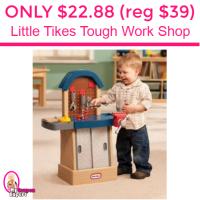 Only $22.88 (reg $39.49) Little Tikes Tough Work Shop!