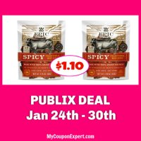 Epic Beef or Chicken Jerky $1.10 each at Publix!