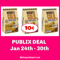 Hershey's Gold Bags only 10¢ each at Publix!
