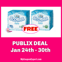 FREE Scotties Facial Tissues at Publix!