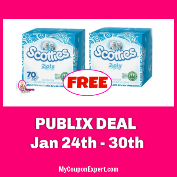 image relating to Scotties Tissues Printable Coupon named No cost Scotties Facial Tissues at Publix! ·