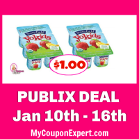 Publix Deal:  Stonyfield Yokids or Yobaby Multipacks $1.00 each!