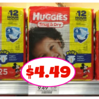 Huggies Diapers Only $4.49 each!  Print NOW!