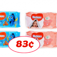 Huggies Wipes Soft Packs 83¢ at Publix RIGHT NOW!!