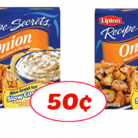 Lipton Recipe Secrets 50¢ each at Publix!