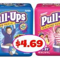 Pull-Ups Jumbo Packs $4.49 at Publix!